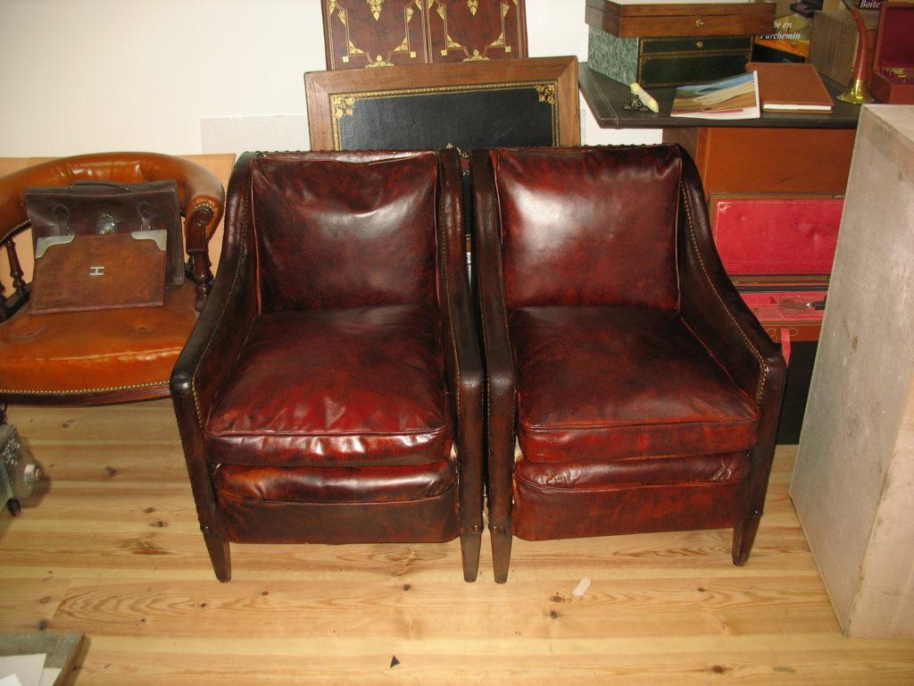 La Gainerie D'Art-fauteuil club en cuir (1)