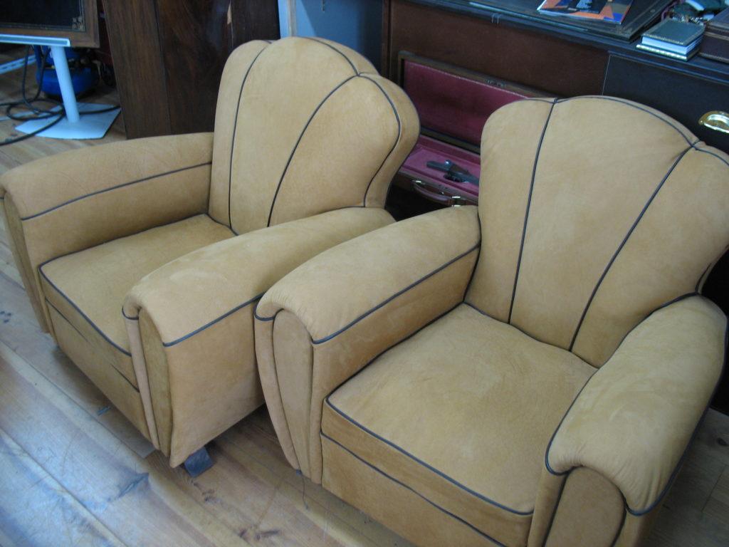 La Gainerie D'Art-fauteuil club en nubuck (2)